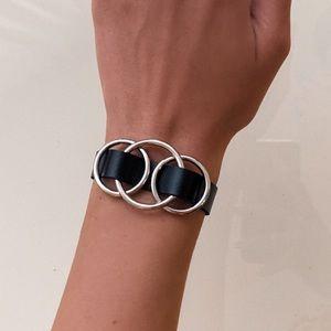 Leather Rings Bracelet